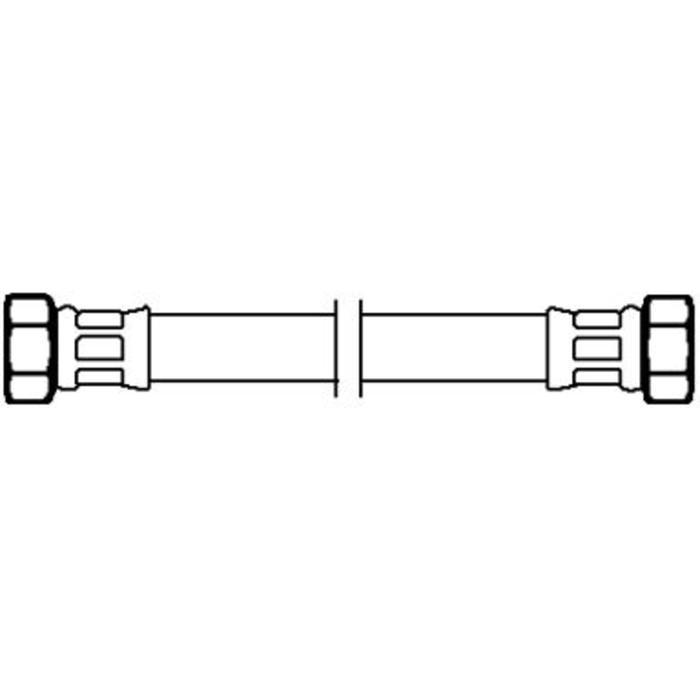 Neoperl Neoflex crg flexibele slang 20 cm. 3/8 inchx1/2 inch bi.