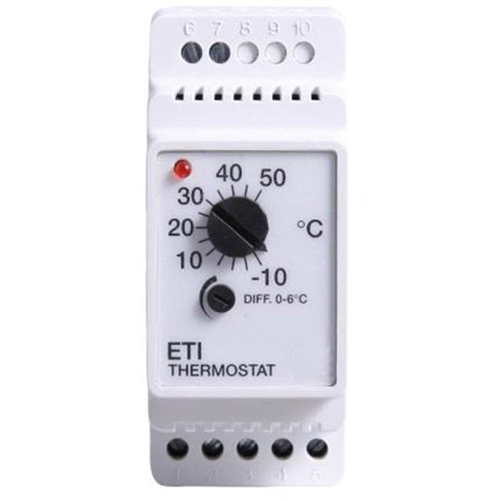 Magnum eti-1551 rail thermostaat -10/+50 c. 10a 230v