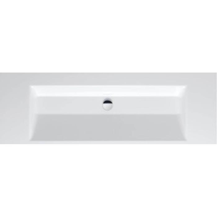Bette Aqua wastafel 140x47.5cm zonder kraangat wit
