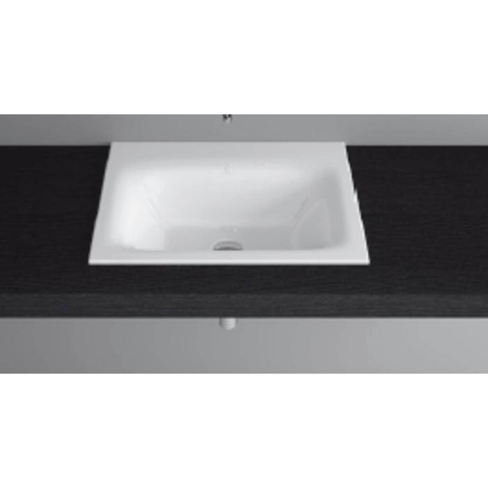 Bette Lux inbouw wastafel 60x47.5x1cm zonder kraangat wit