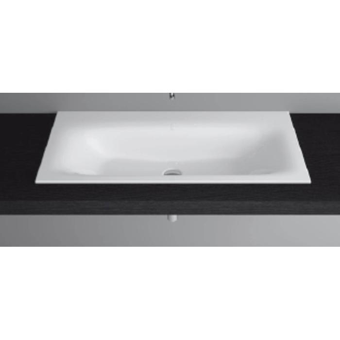 Bette Lux inbouw wastafel 100x47.5x1cm zonder kraangat wit