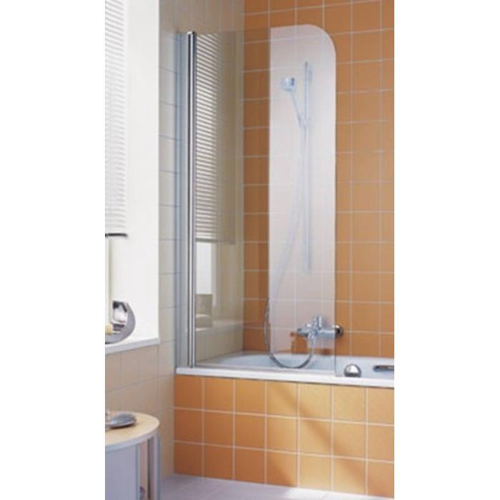 Kermi Atea badwand 75 x 150 cm. rechts Zilver Glans-Helder Clean