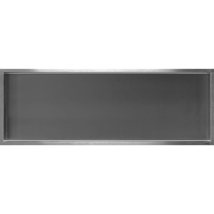 Looox Box inbouwmodule nis 90 x 30 cm. RVS Geborsteld
