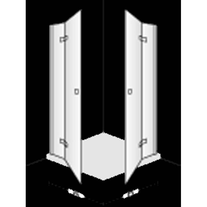 Villeroy & Boch Subway Draaideur voor zijwand Links 120x190cm Chroom/Helder glas
