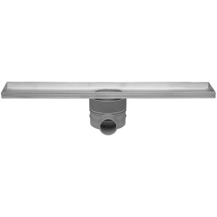 Easydrain Multi inbouwdeel drain 100 cm zonder rooster RVS