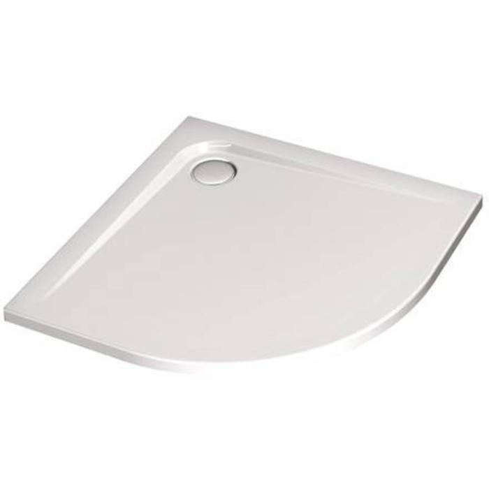 Ideal Standard Ultra Flat douchebak kwartrond 90 x 90 x 4 cm radius 550 Wit