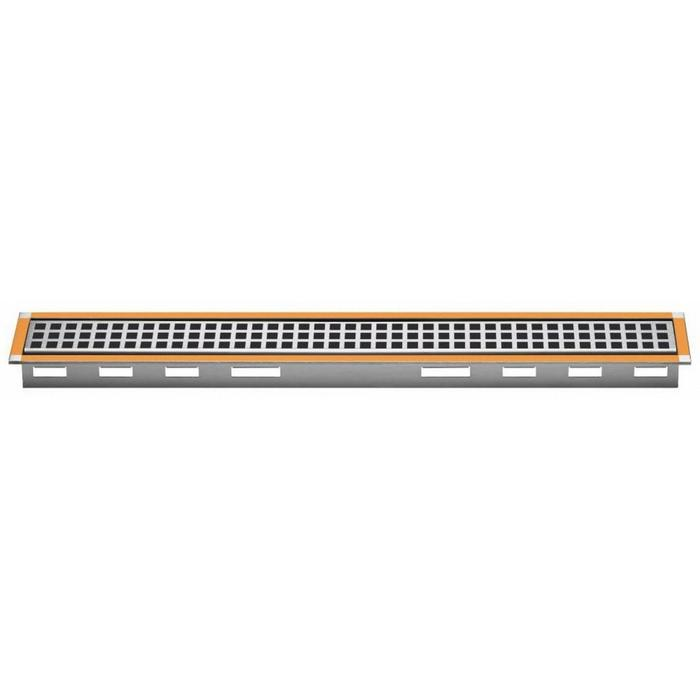 Schluter kerdi-line A rooster met frame voor douchegoot 130x5,4x1,9 cm RVS