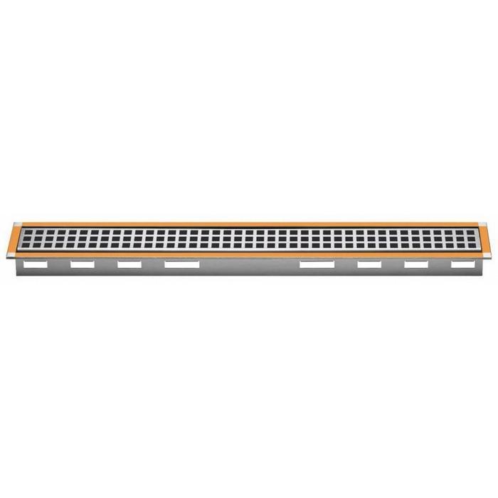 Schluter kerdi-line A rooster met frame voor douchegoot 140x5,4x1,9 cm RVS