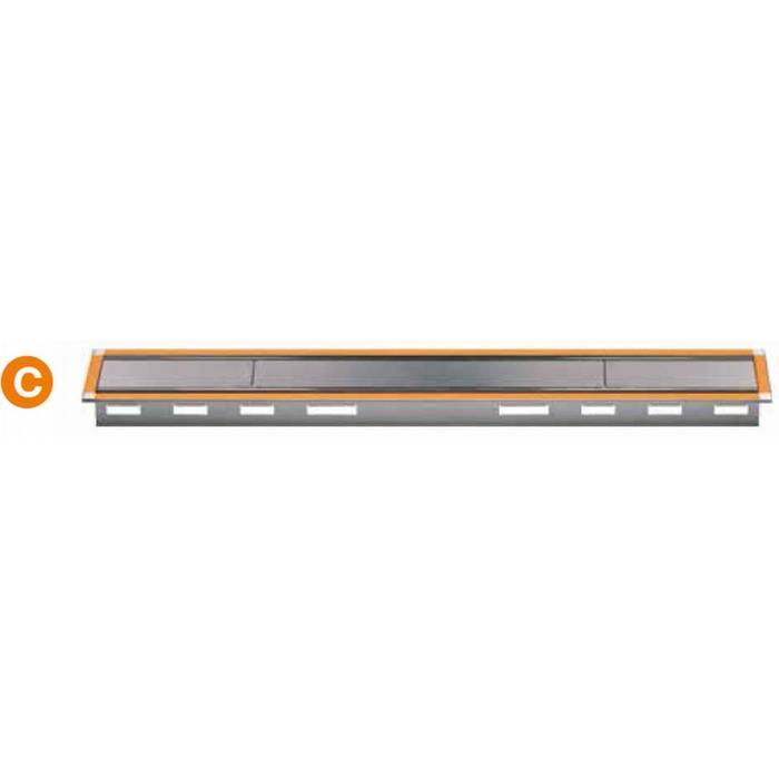 Schluter kerdi-line C rooster met frame voor douchegoot 90x4,7x3 cm RVS