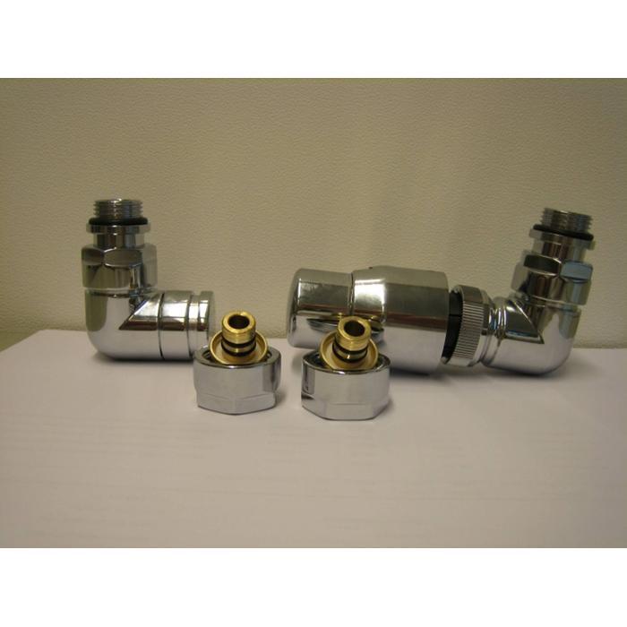 Honeywell Thera designset 1-8 rechts  met 2 kopp.m24x16 coax Chroom