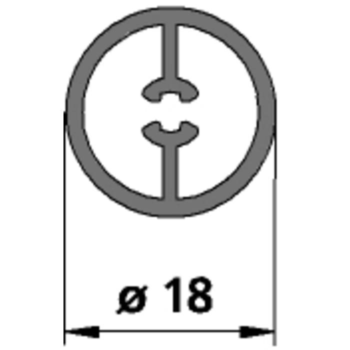 Kermi rond buisprofiel voor stabilisatie 70 cm. Zilver Mat