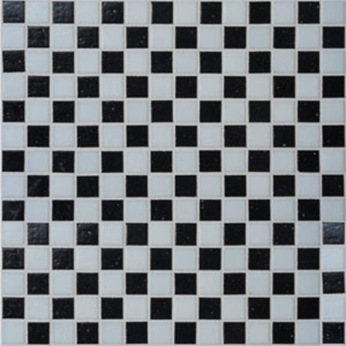 Mozaïek Tebe Vital Naturkeramik 30x30 cm Glass Mosaic Zwart Wit Mix 1 ST