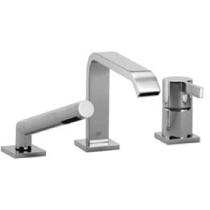 Dornbracht IMO 3-gats badmengkraan voor badrand- en tegelrandmontage Platina Mat