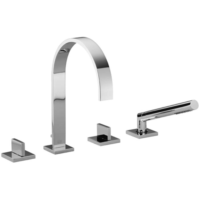 Dornbracht MEM 4-gats badmengkraan voor badrand- en tegelrandmontage Platina Mat