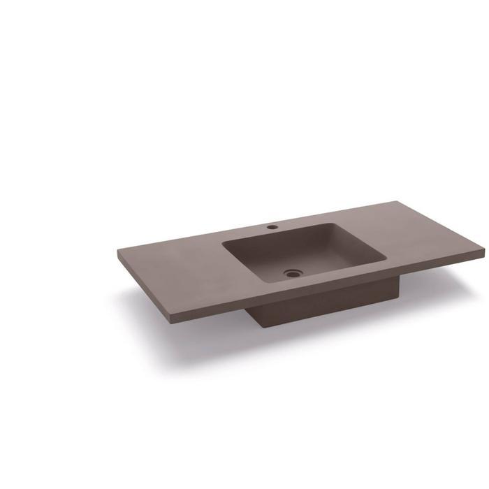 Bathco Potes wastafel 100x51x13cm Cemento