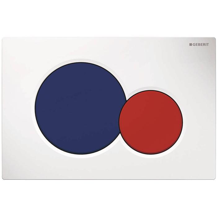 Geberit Sigma01 bedieningspaneel wit/blauw/rood tbv UP720, UP320, UP300 en UP700