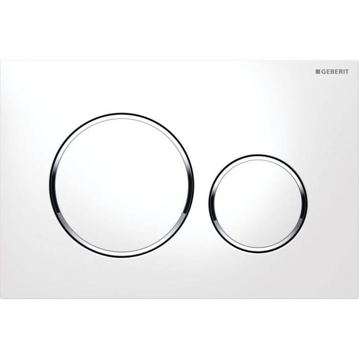 Geberit Sigma 20 drukplaat 2-knops tbv UP720/UP320 glans wit/chroom/wit