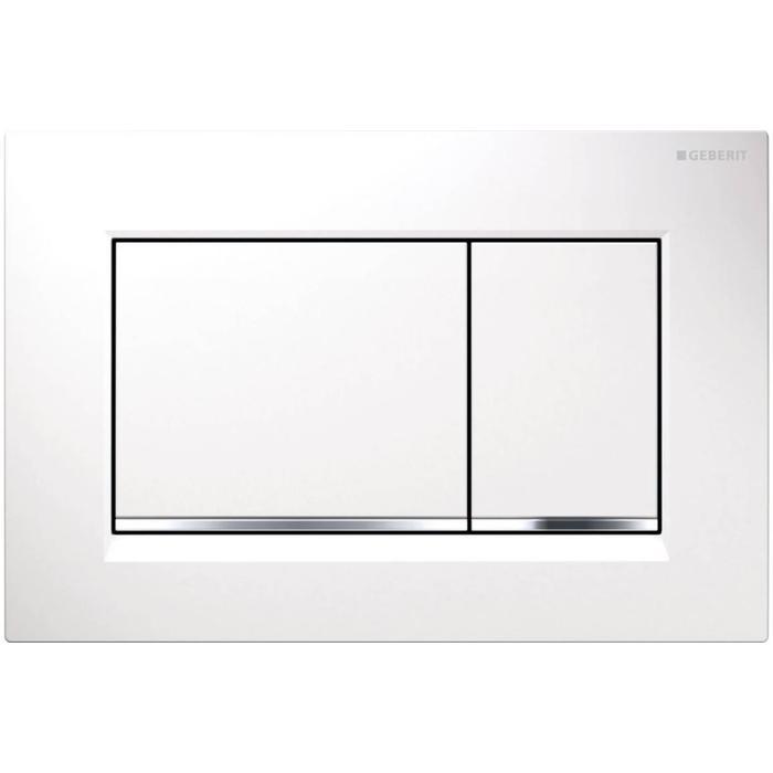 Tweedekans Geberit Sigma 30 bedieningspaneel Wit / glansverchroomd / wit 00280