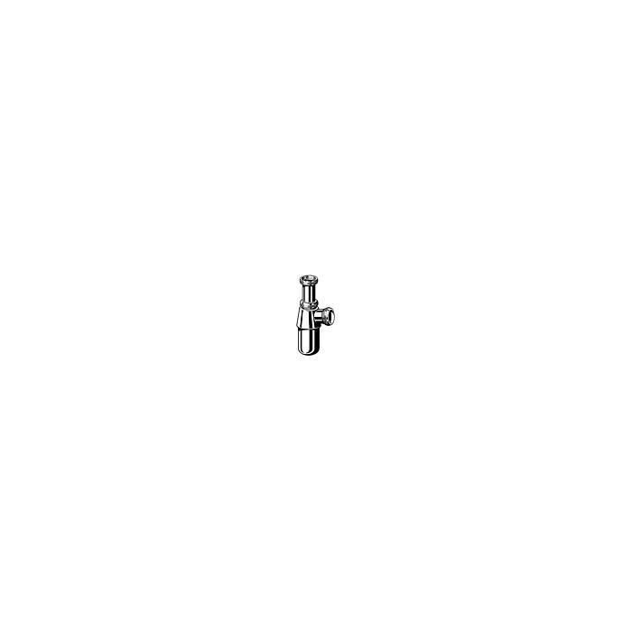 Tweedekans Viega Project bekersifon zonder muurbuis met roset 1 1/2 inch x 1 1/ chroom 00420