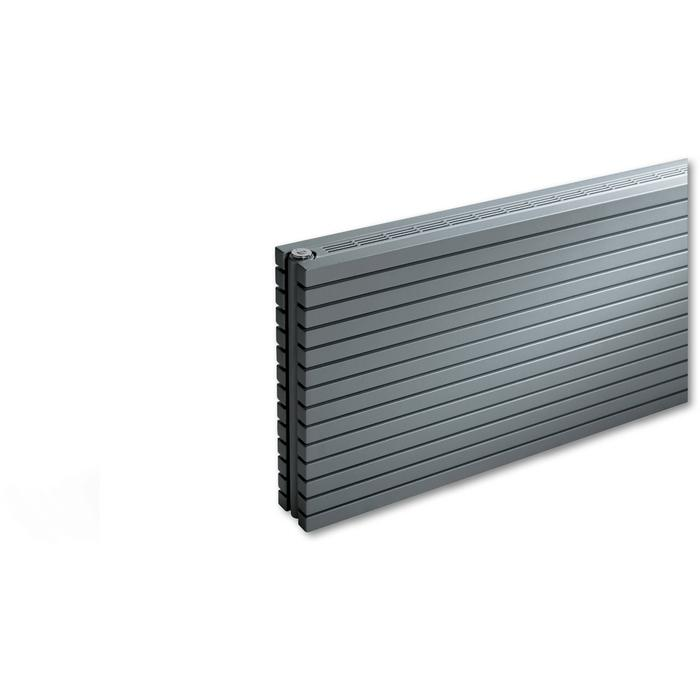 Vasco Carré Horizontaal CPHN2-RO radiator as=0018 60x280cm 3573W Platina Grijs