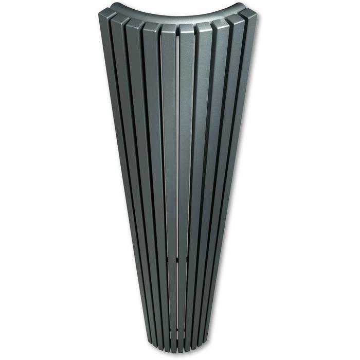 Vasco Carré Kwartrond designradiator 180x24cm 785W Telegrijs 4