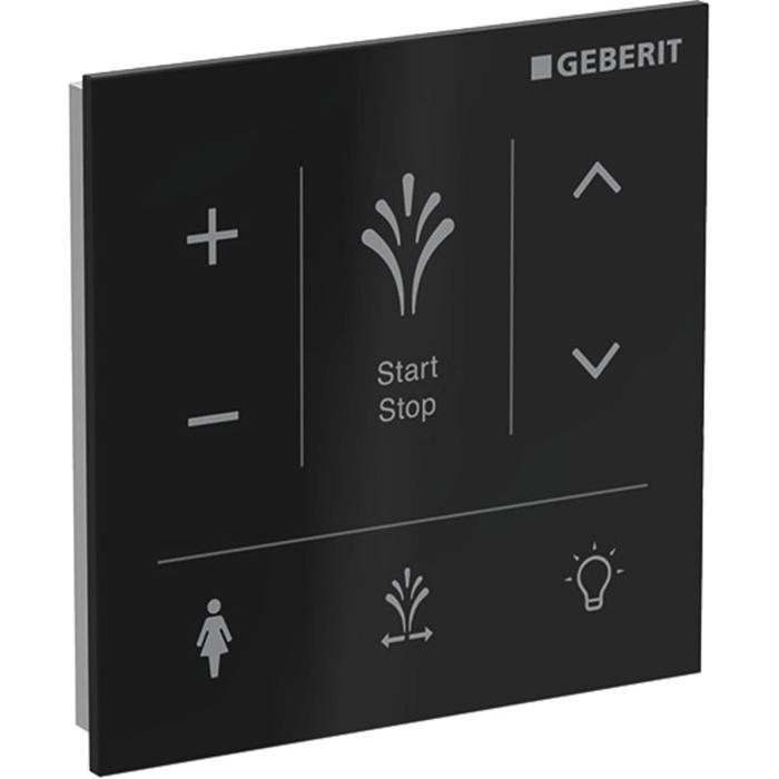 Geberit Wandbedieningspaneel voor AquaClean Sela Glas/Zwart