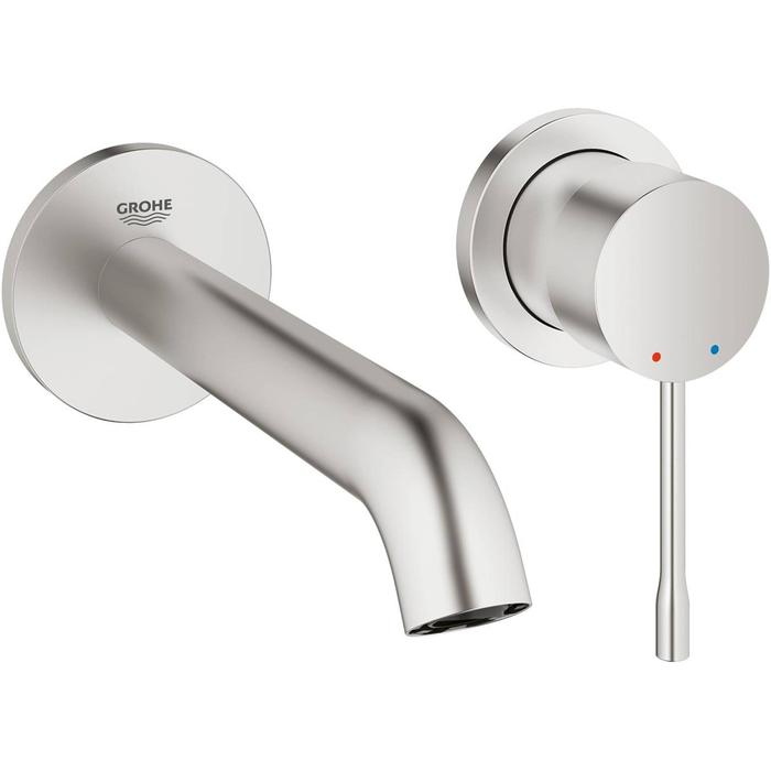 Grohe Essence New 2-gats wastafelkraan Supersteel