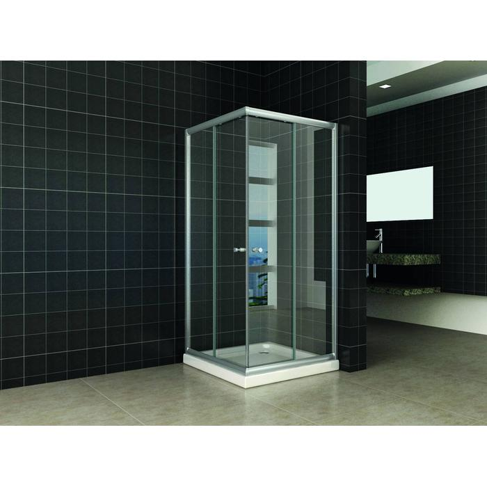 Saqu Douchecabine Hoekinstap 80x80x190 cm Helder Glas Aluminium