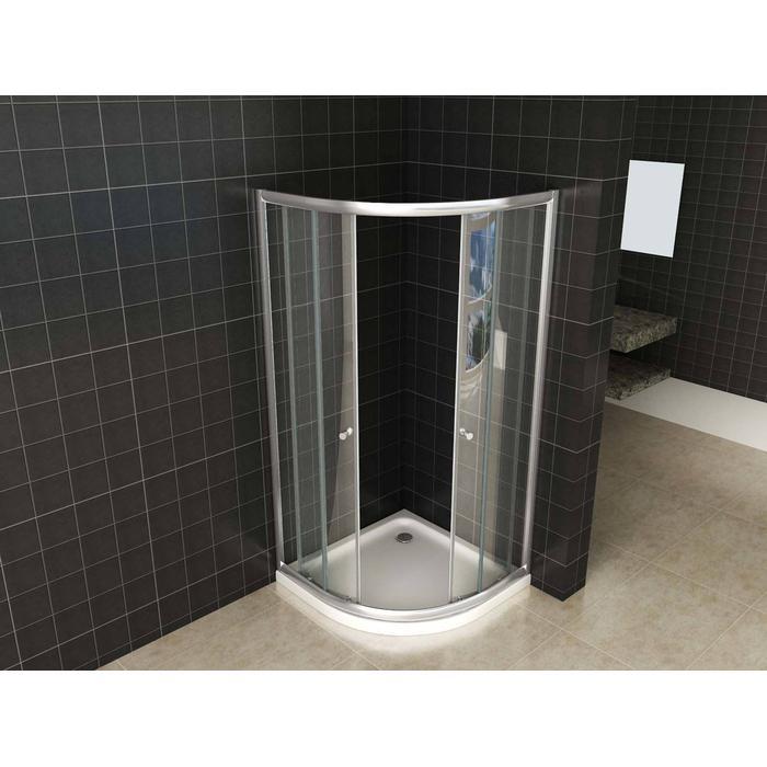 Saqu Douchecabine kwartrond 90x90x190 cm Helder glas Aluminium