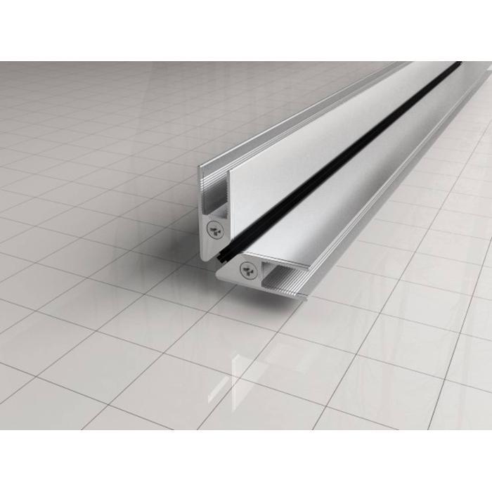 Saqu magneetstrips Set 8 mm voor kwartrond cabine chroom