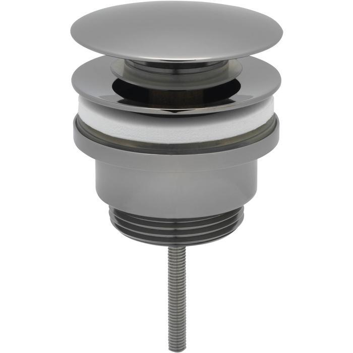 Ben Push Open Wastafelplug 6,3cm Zwart Chroom