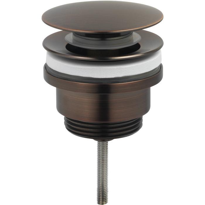 Ben Push Open Wastafelplug 6,3cm Brons Rood