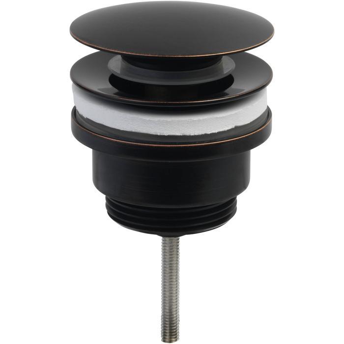 Ben Push Open Wastafelplug 6,3cm Brons Zwart
