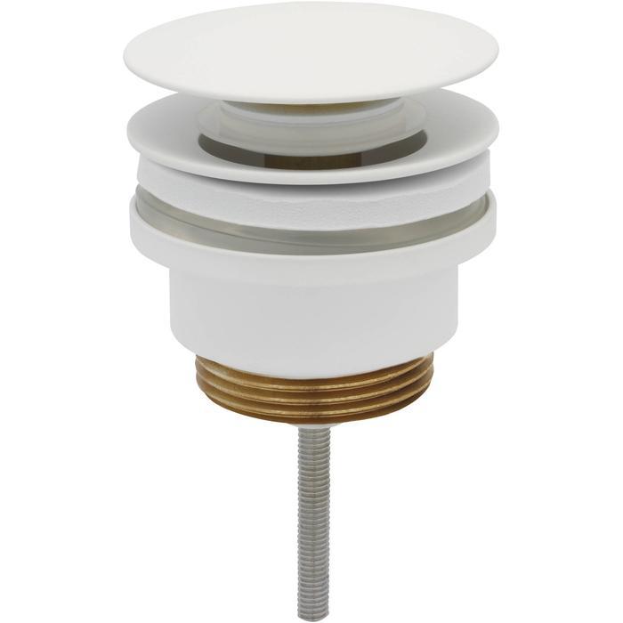 Ben Push Open Wastafelplug 6,3cm Mat Wit