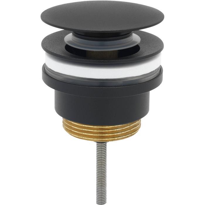 Ben Push Open Wastafelplug 6,3cm Gestructureerd Zwart