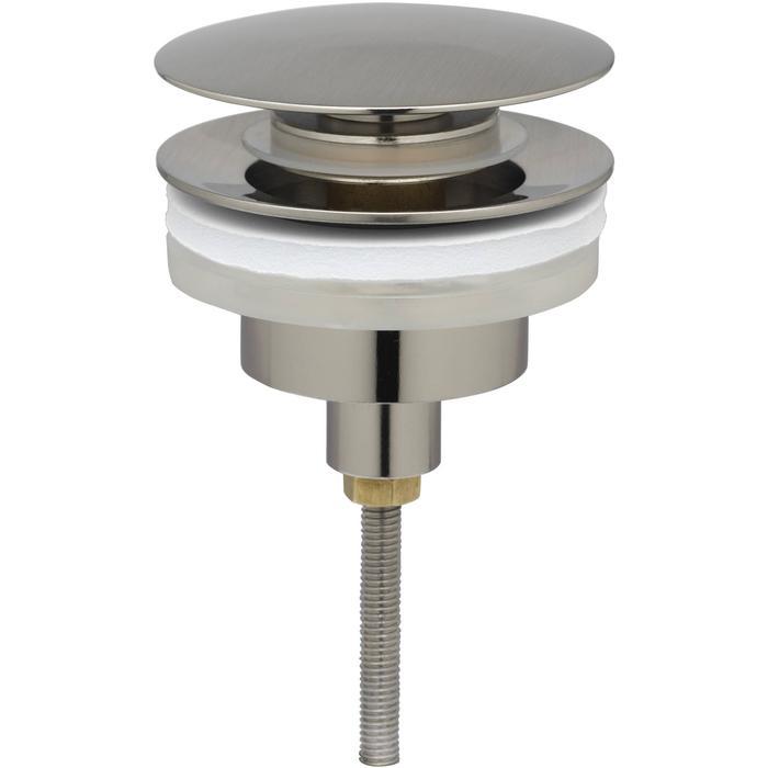 Ben Push Open Wastafelplug afsluitbaar 5/4 inch Geborsteld Nickel
