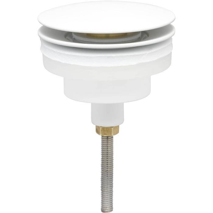Ben Push Open Wastafelplug afsluitbaar 5/4 inch Mat Wit
