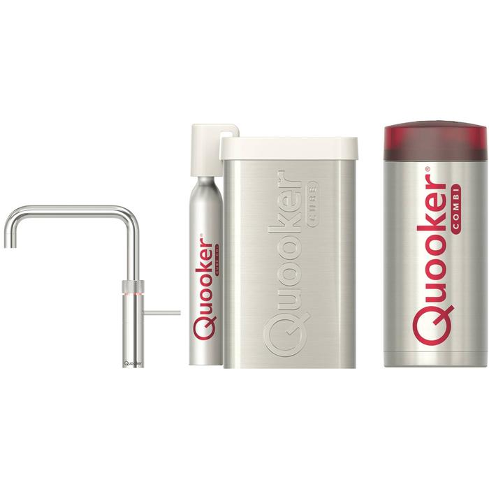 Quooker Fusion Square Chroom met COMBI+ boiler en CUBE reservoir 5-in-1 kraan