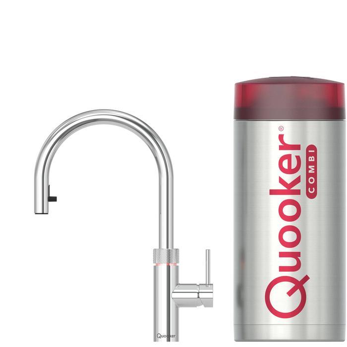 Quooker Flex Chroom met COMBI+ boiler 3-in-1 kraan