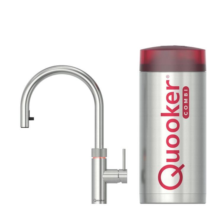 Quooker Flex RVS met COMBI boiler 3-in-1 kraan