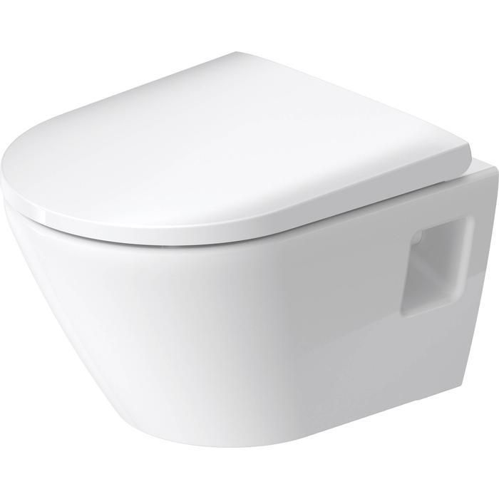 Duravit D-Neo hangtoilet compact met hygiëneglaze 37x48x40cm Wit