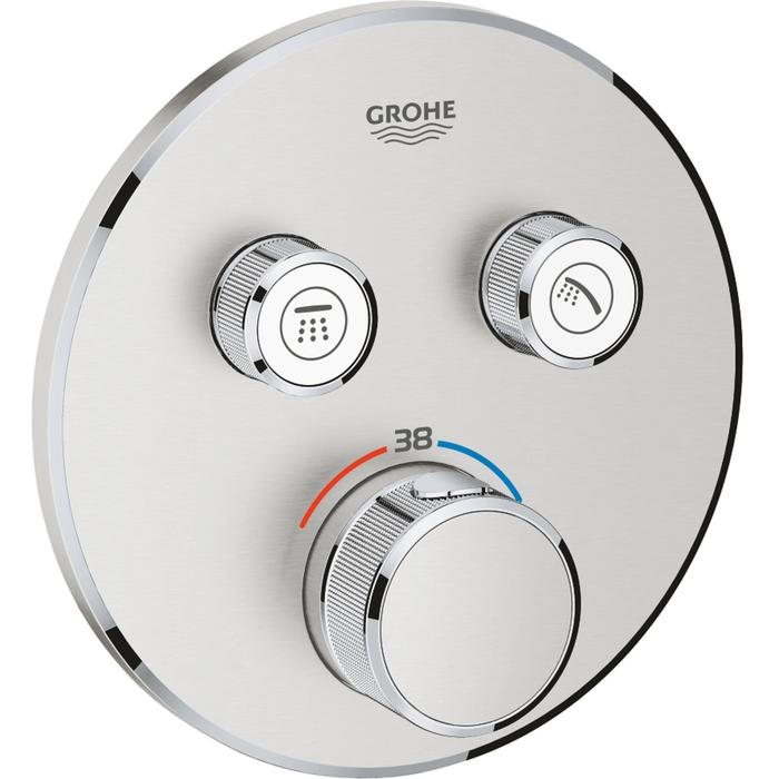 Grohe Grohtherm Smartcontrol Opbouwthermostaat Ø15,8 cm Supersteel