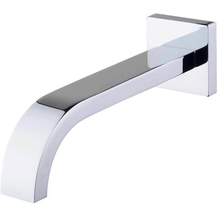 Saqu Inbouw Baduitloop vierkant 30 cm 1/2 inch Chroom