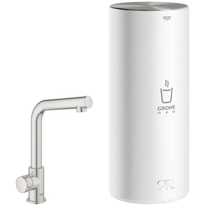 Grohe Red Mono kokend water kraan L-uitloop Combi boiler L-size supersteel