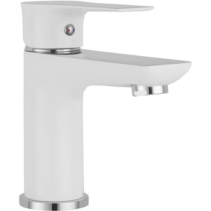 Saqu Design Collection 300 Wastafelkraan White Edition Wit/chroom