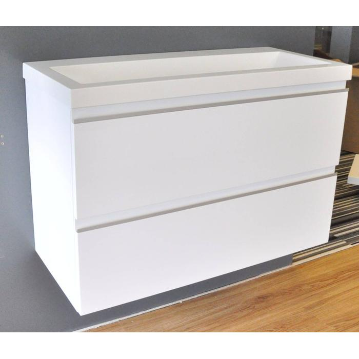 Saqu Pure  onderkast 80x36cm Glossy white