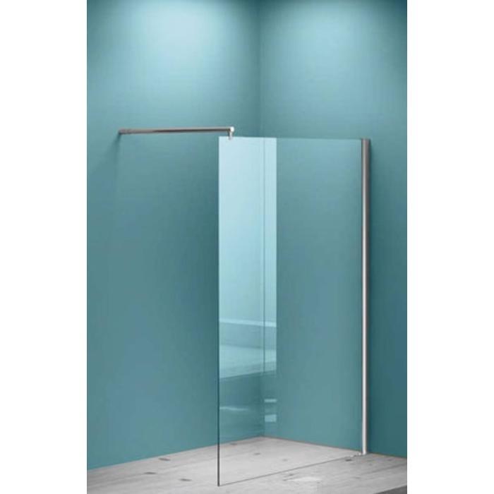 Saqu Solo Douchewand Helder Glas 108,5-110x200 cm met Profiel Aluminium