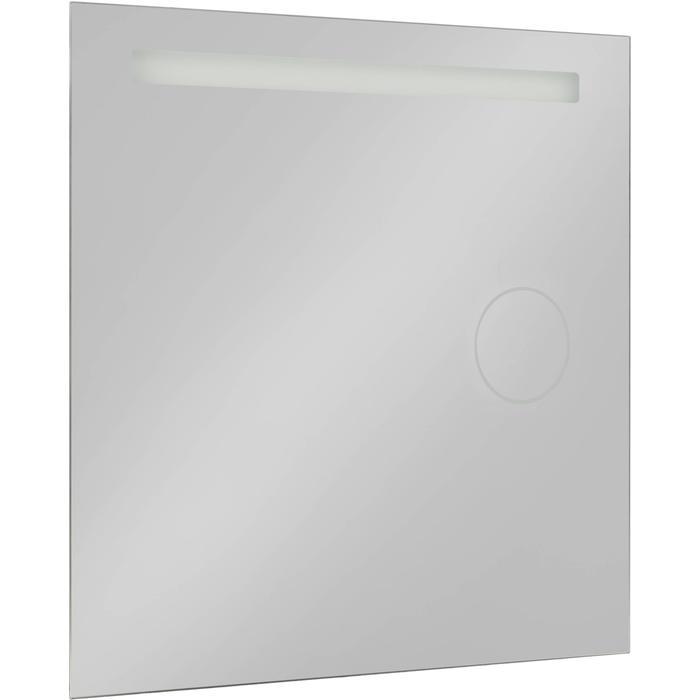 Saqu Functional Spiegel met LED verlichting en scheerspiegel 80x80 cm