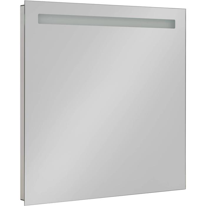 Saqu Plain Spiegel met LED verlichting en stopcontact 80x80 cm