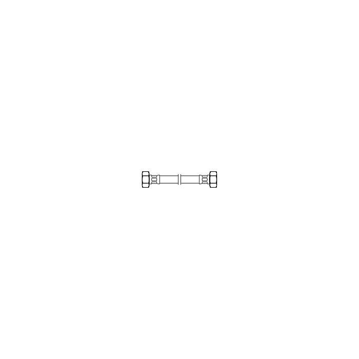Neoperl Neoflex slang 150 cm. 1/2 inchmoer x 1/2 inchmoer RVS